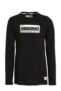 Vingino longsleeve Jatup met logo zwart, Zwart