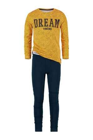 pyjama Wanneke geel/donkerblauw
