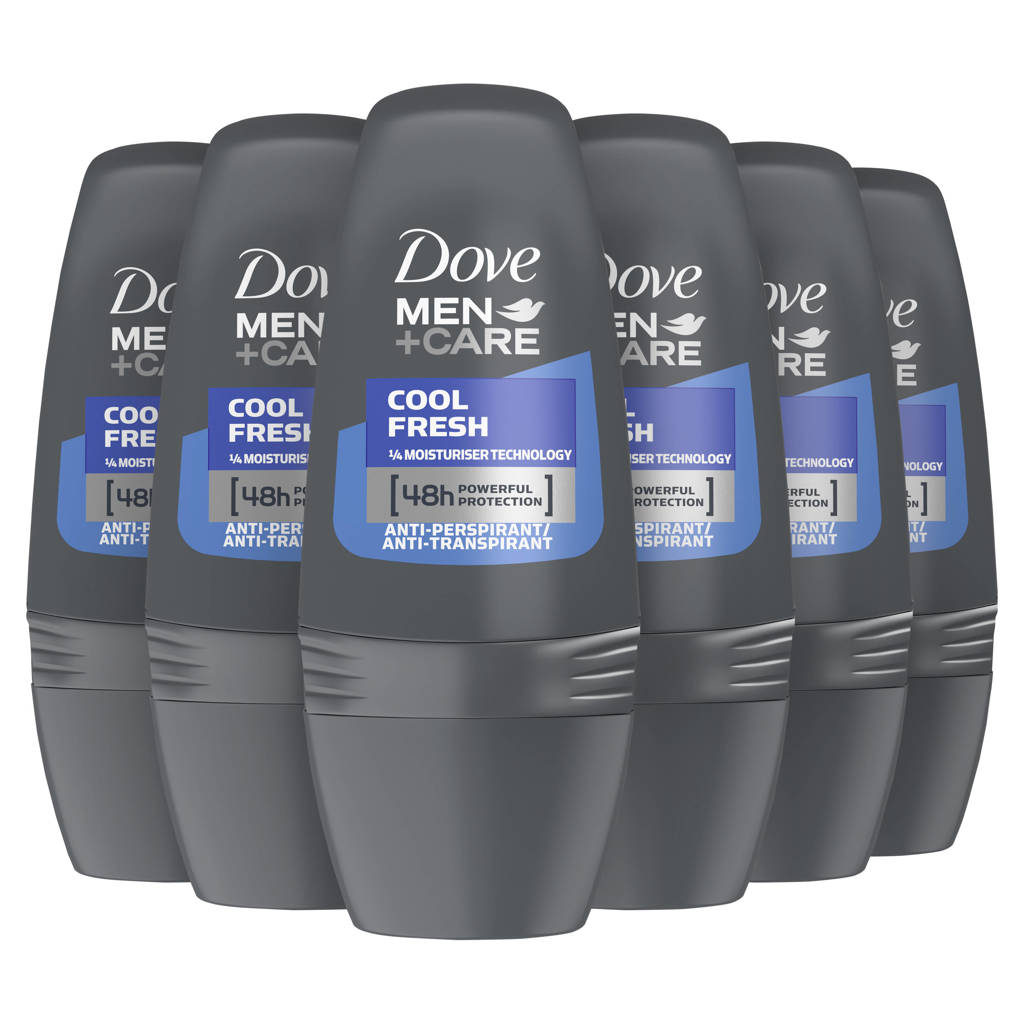 Dove Men+Care Cool Fresh anti-transpirant roller - 6 x 50 ml