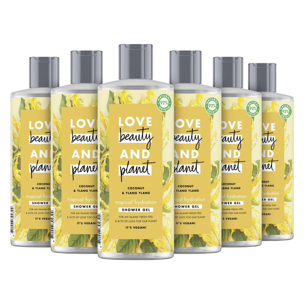 Love Beauty and Planet Coconut & Ylang Ylang Tropical Hydration showergel - 6 x 500 ml