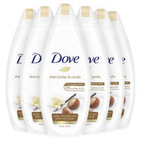 Dove Purely Pampering Sheabutter & Vanille douchecrème - 6 x 250 ml