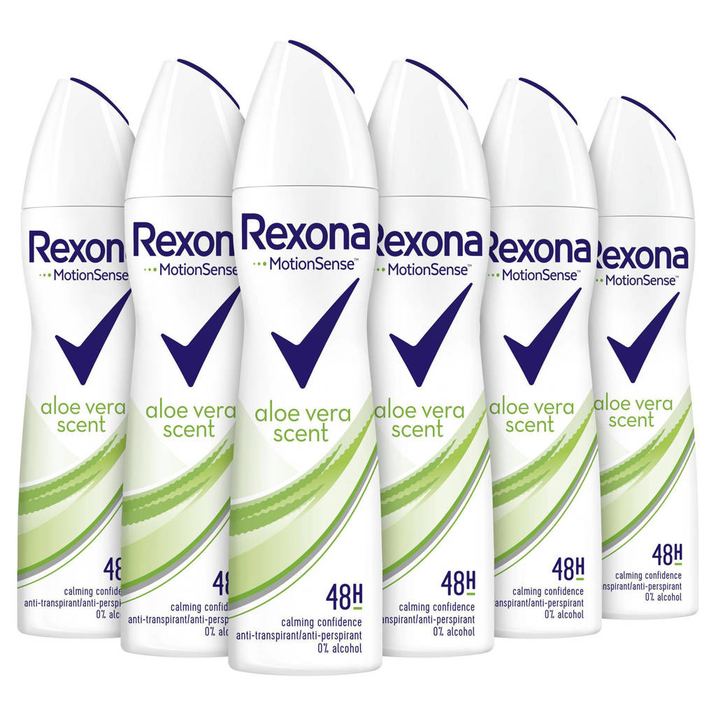 Rexona Women Aloe Vera anti-transpirant spray - 6 x 150 ml
