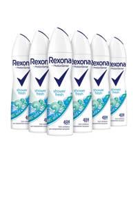 Rexona Women Shower Fresh anti-transpirant spray - 6 x 150 ml