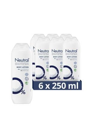 Neutral parfumvrije body lotion - 6 x 250 ml