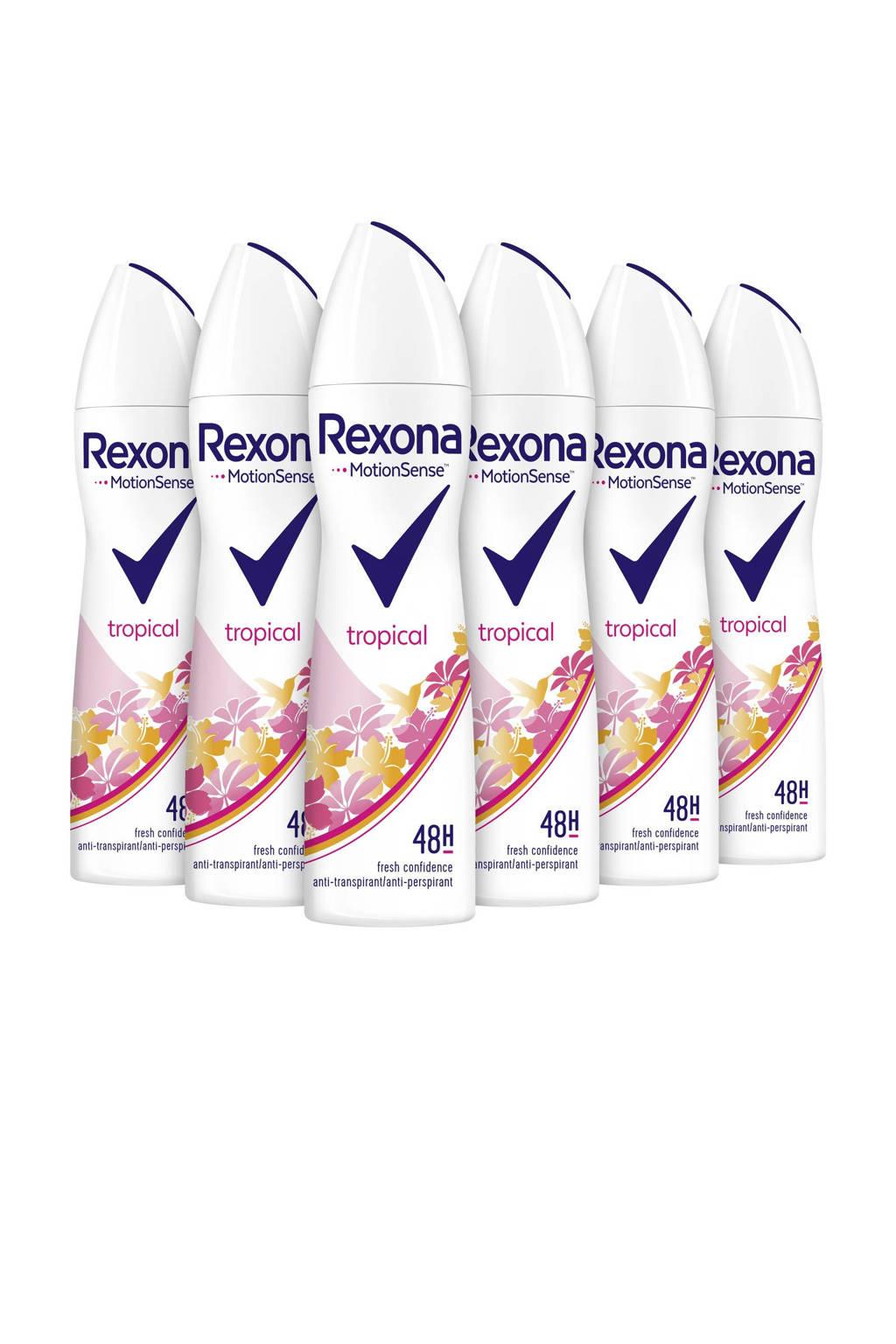 Rexona Women Tropical anti-transpirant spray - 6 x 150 ml