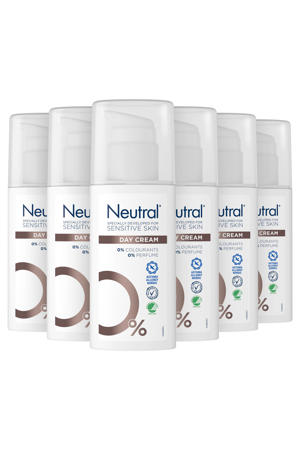 Neutral parfumvrije dagcrème 8 x 50 ml