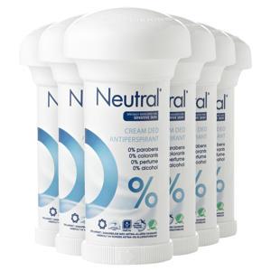 Neutral parfumvrije deodorant stick - 6 x 50 ml