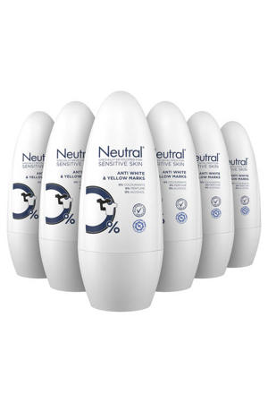 Neutral Anti White & Yellow deodorant roller - 6 x 50 ml