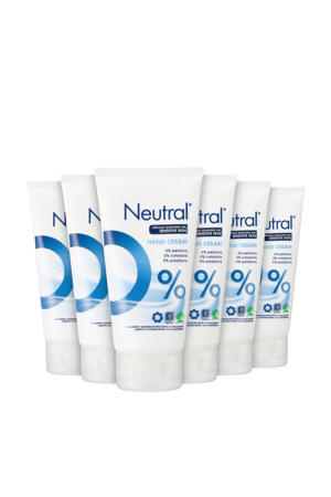Neutral parfumvrije handcrème - 6 x 75 ml