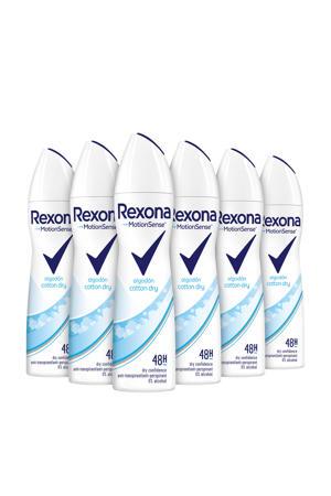 Women Cotton Dry anti-transpirant spray - 6 x 150 ml