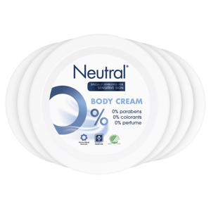 Neutral parfumvrije body crème - 6 x 250 ml