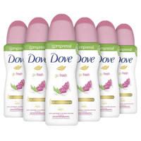 Dove Go Fresh Pomegranate anti-transpirant spray - 6 x 75 ml