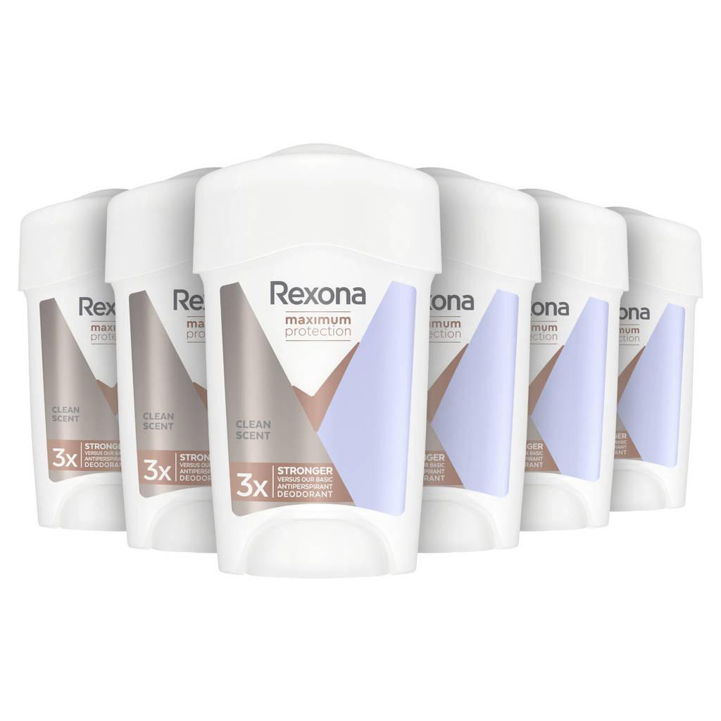 Rexona Maximum Protection Clean Scent deodorant stick - 6 x 45 ml