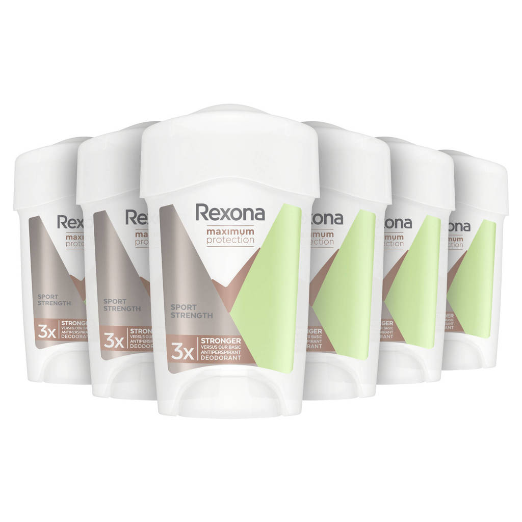 Rexona Maximum Protection Sport Strength deodorant stick - 6 x 45 ml