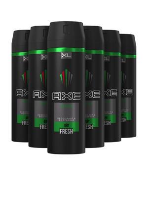 Africa bodyspray deodorant - 6 x 200 ml