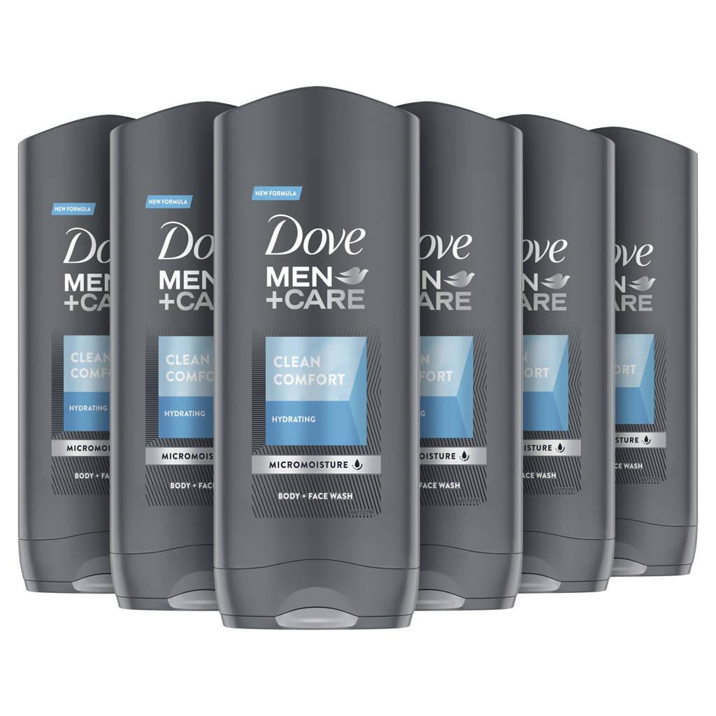 Dove Men+Care Clean Comfort douchegel - 6 x 400 ml