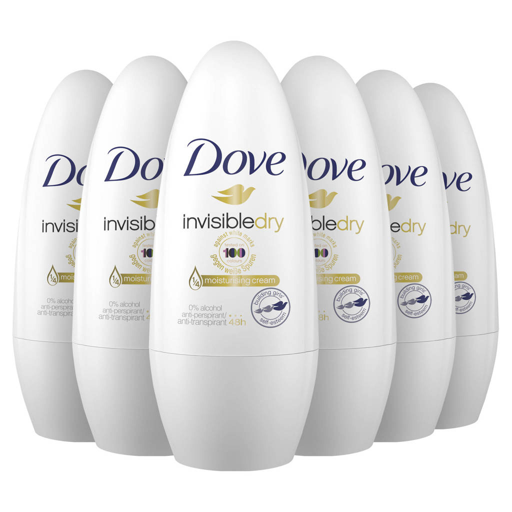 Dove Invisible Dry anti-transpirant roller - 6 x 50 ml