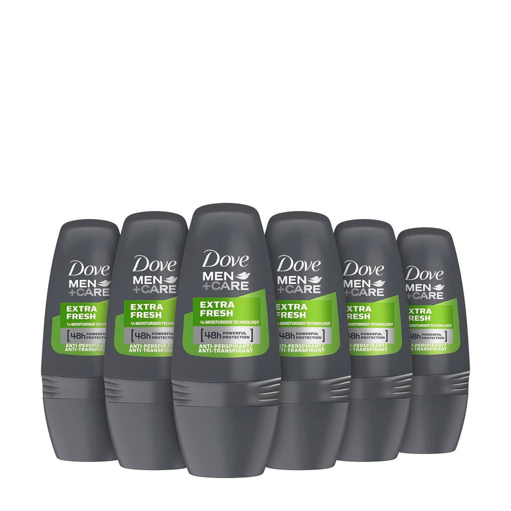 Dove Men+Care Extra Fresh anti-transpirant roller - 6 x 50 ml