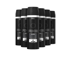 Black bodyspray deodorant - 6 x 200 ml