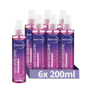 Pink collection Big Volume föhnspray - 6 x 200 ml