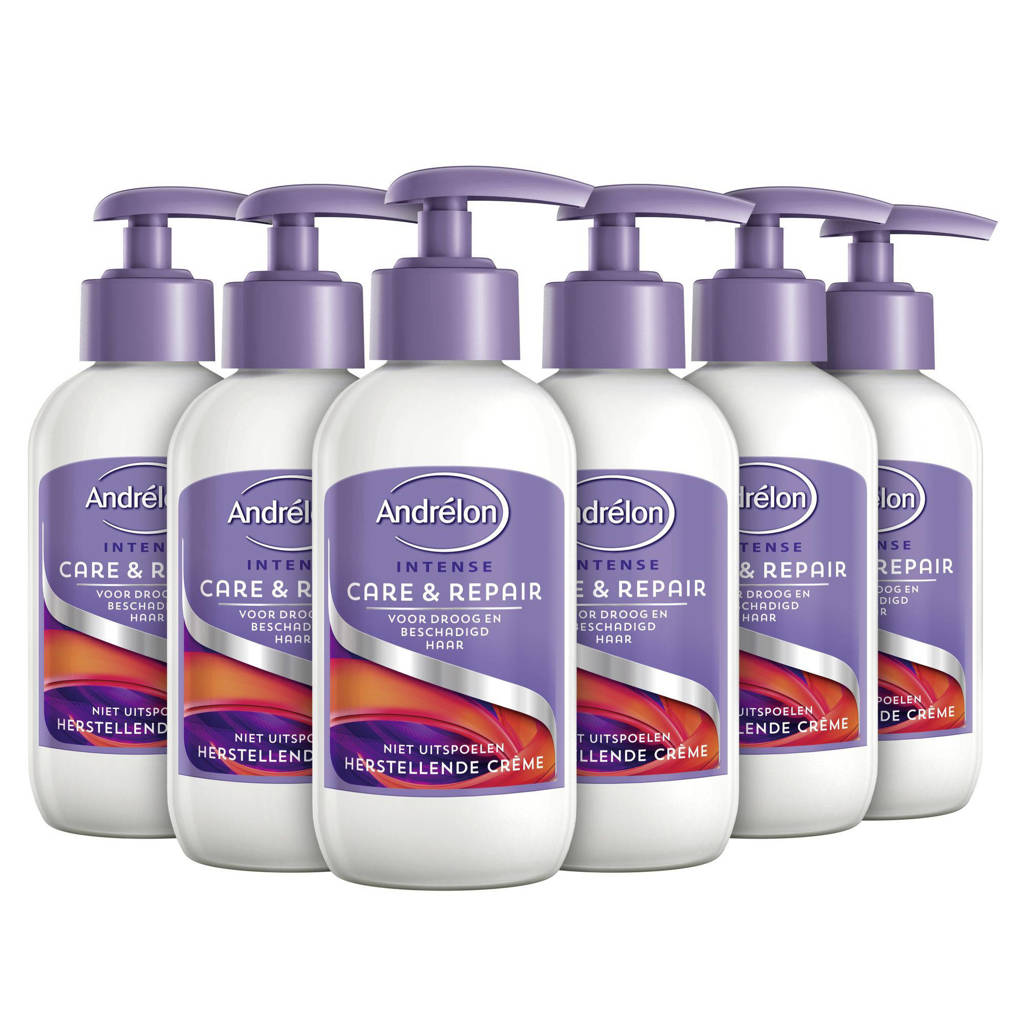 Andrelon Intense Care & Repair haarcrème - 6 x 200 ml
