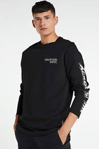 Redefined Rebel longsleeve met logo zwart, Zwart