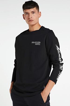 longsleeve met logo zwart