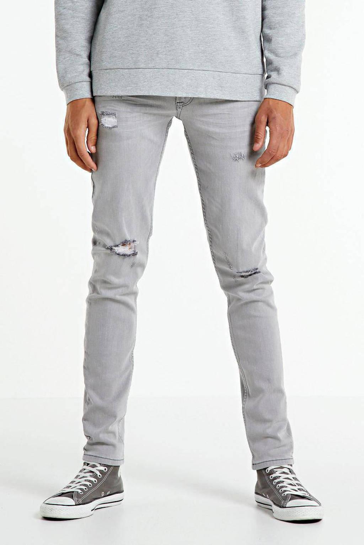Redefined Rebel slim fit jeans Stockholm Destroy grijs, Grijs