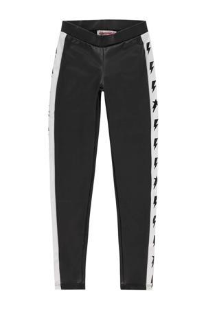 regular fit legging Sharen met zijstreep zwart