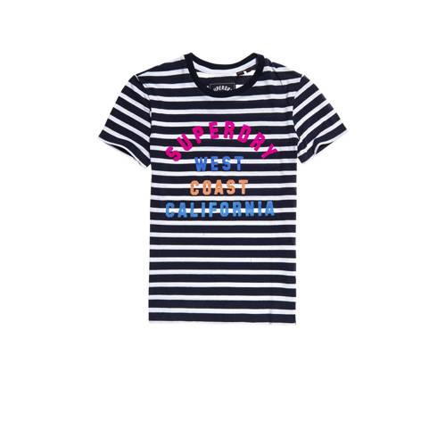 Superdry gestreept T-shirt blauw/wit