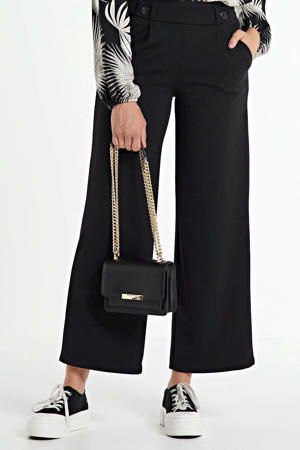 cropped high waist wide leg palazzo broek JDYGEGGO  zwart