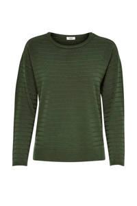 JACQUELINE DE YONG trui met structuur groen, Groen