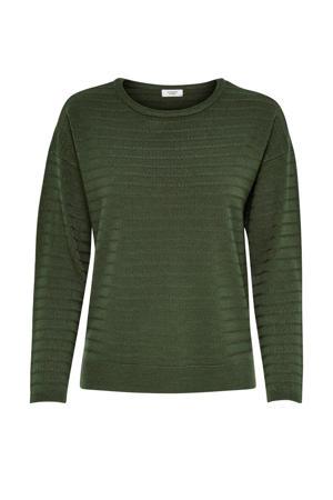 trui met structuur groen
