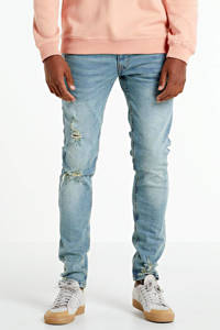 Redefined Rebel slim fit jeans Stockholm Destroy met slijtage arctic blue, Arctic Blue