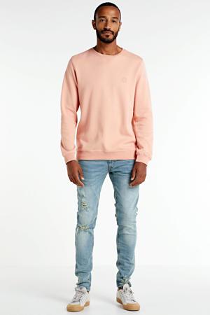 skinny jeans Stockholm Destroy met slijtage arctic blue