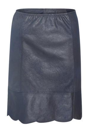 imitatieleren rok donkerblauw
