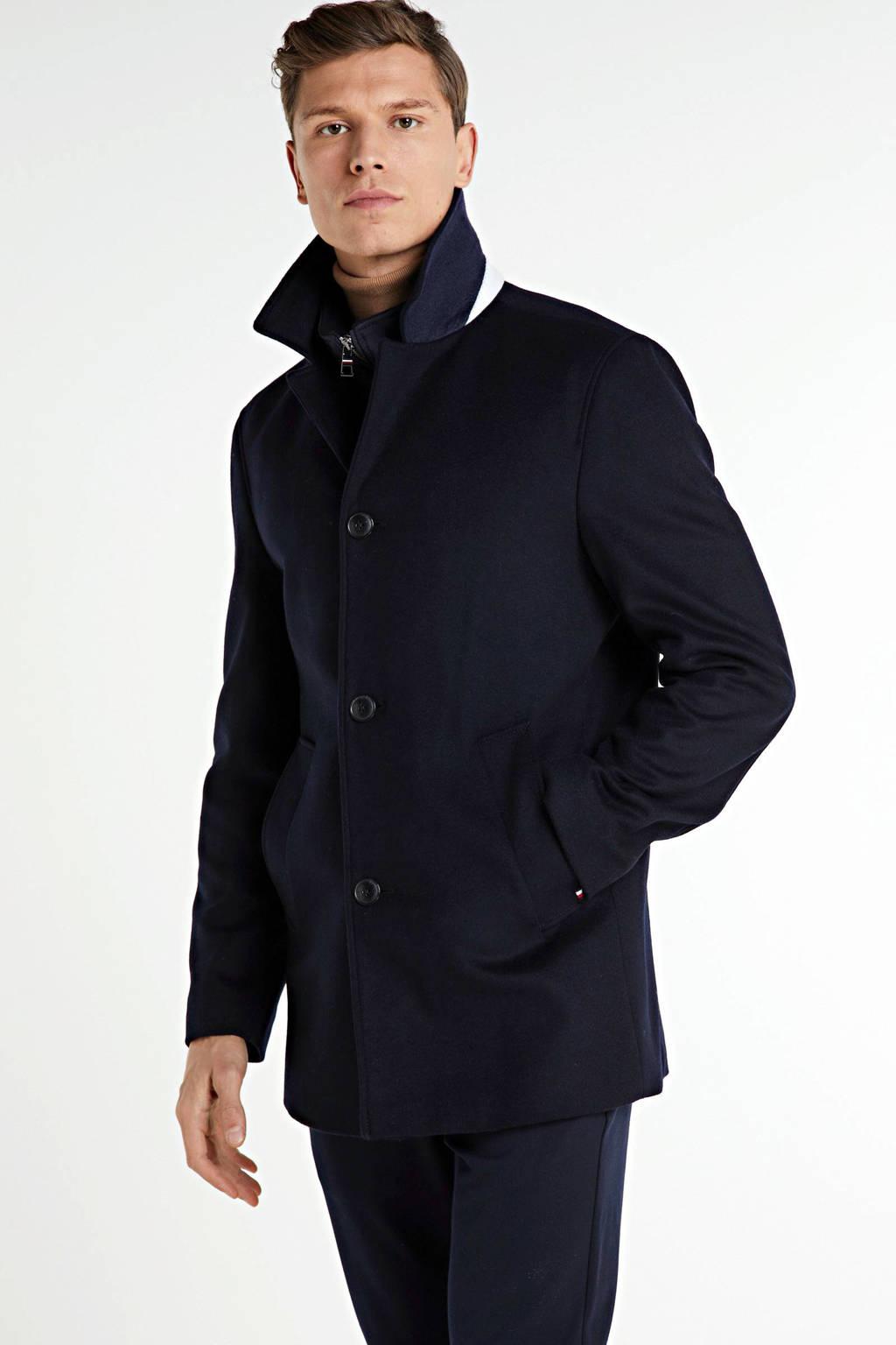 Tommy Hilfiger Tailored jas met wol donkerblauw, Donkerblauw