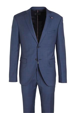 slim fit kostuum met wol blauw