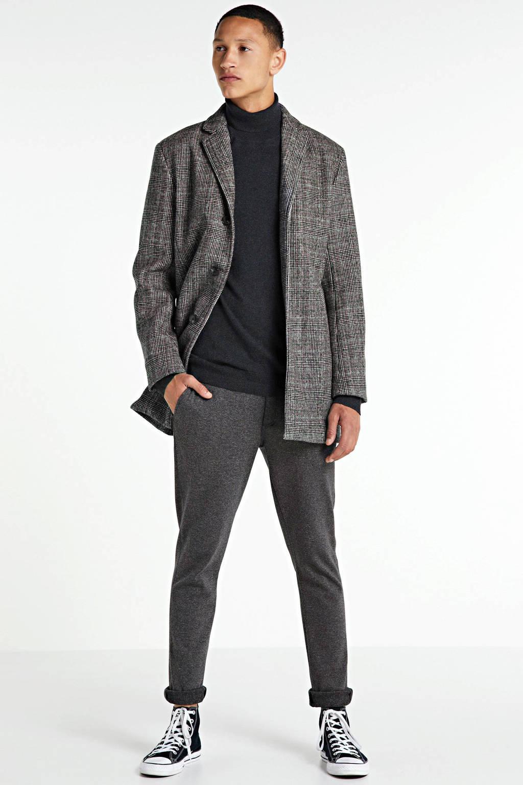 Redefined Rebel geruite winterjas Herman zwart/wit, Zwart/wit
