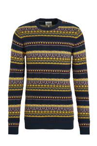 Redefined Rebel gestreepte trui blauw/geel, Blauw/geel