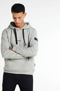Redefined Rebel hoodie met logo grijs melange, Grijs melange