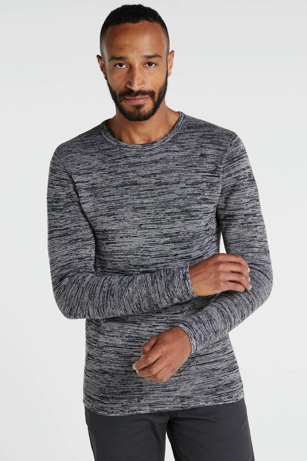 Redefined Rebel gemêleerde trui grijs, Grijs