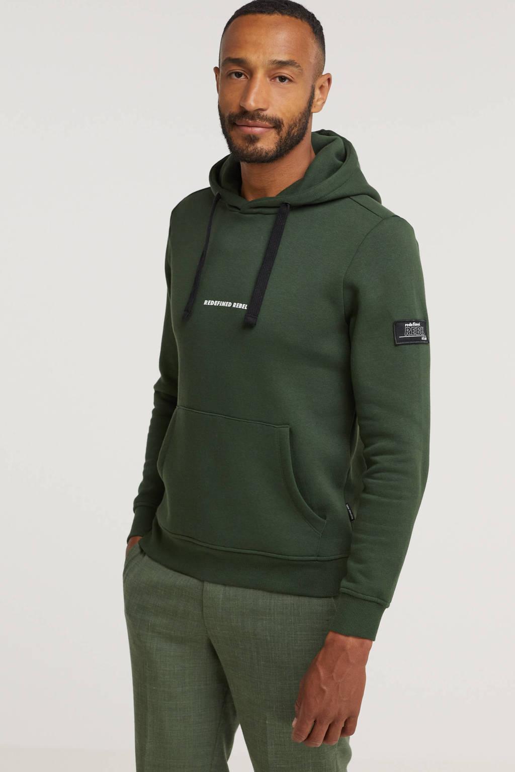 Redefined Rebel hoodie met biologisch katoen groen, Groen