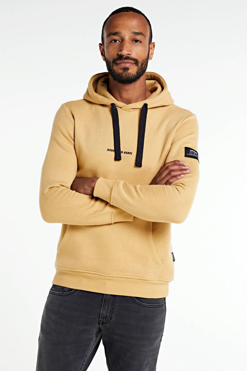 Redefined Rebel hoodie met biologisch katoen lichtgeel, Lichtgeel