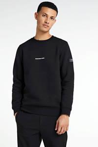 Redefined Rebel sweater met tekst zwart, Zwart