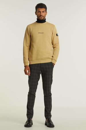sweater met tekst beige