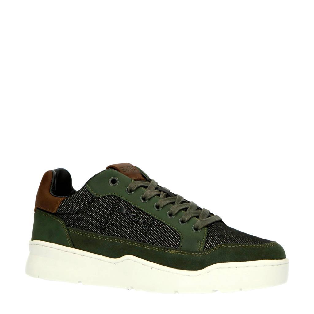 Björn Borg L200 DMN M  sneakers olijfgroen, Groen/bruin/zwart