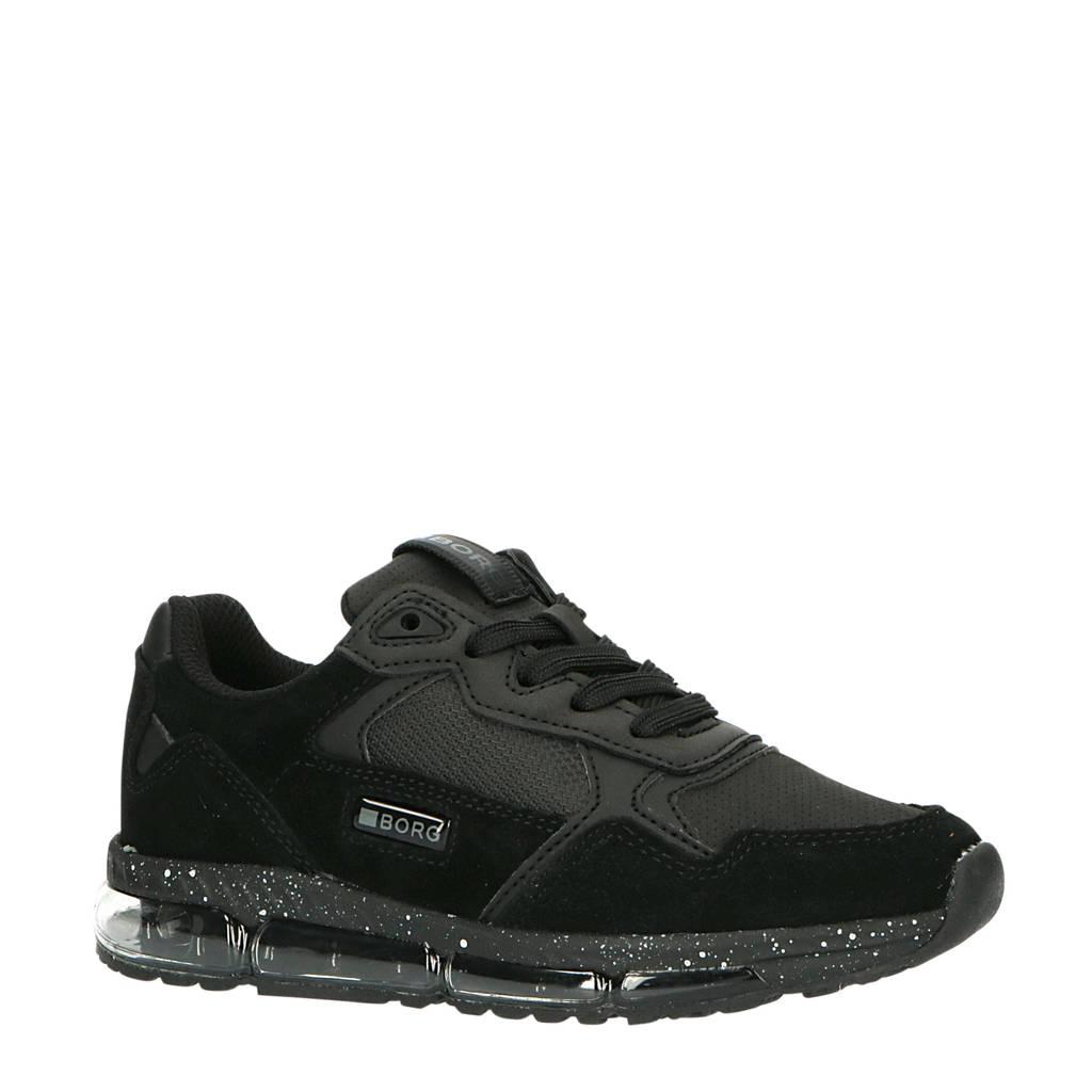 Björn Borg X500 SPK K  suède sneakers zwart, Zwart