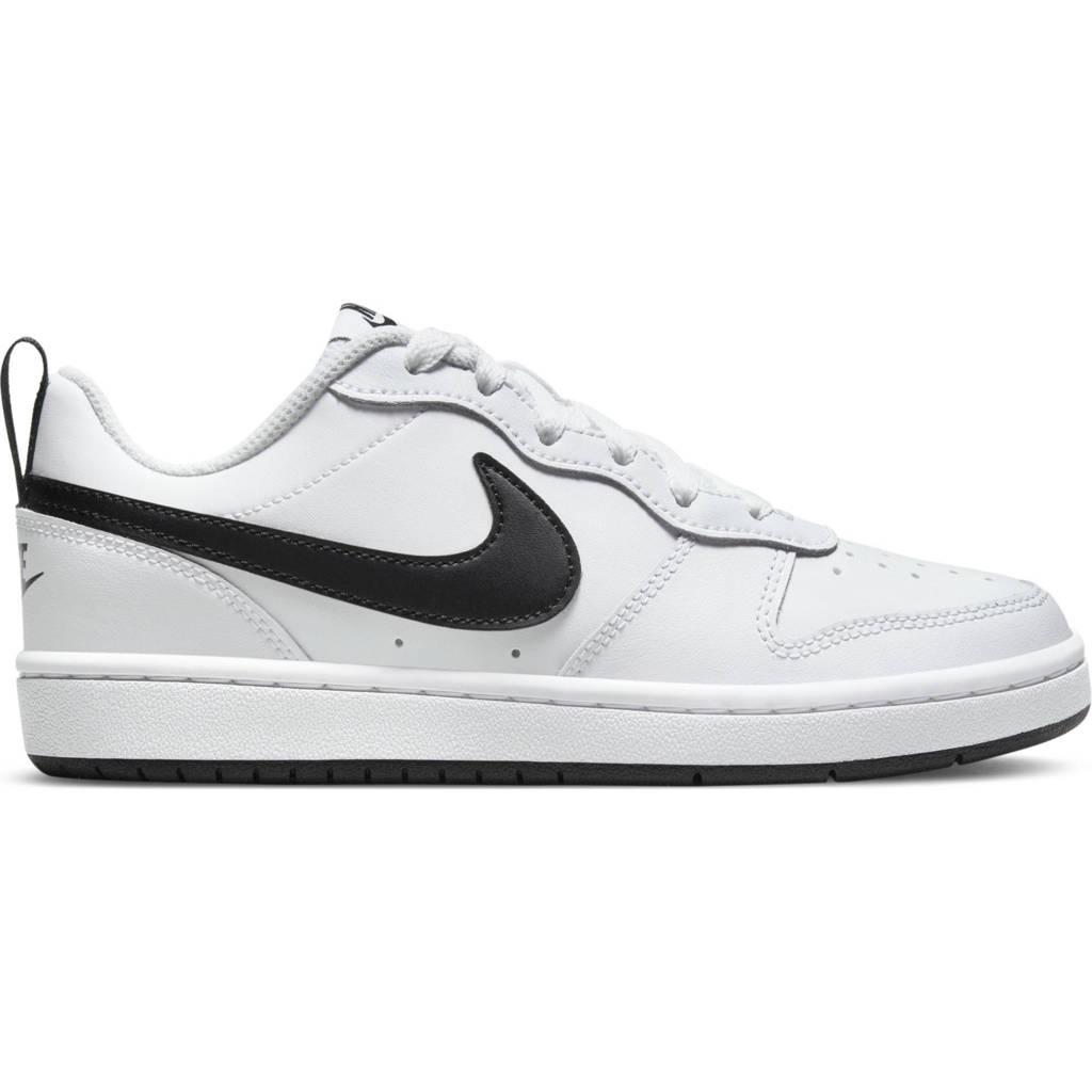 Nike Court Borough Low 2 (GS) leren sneaker wit/zwart, Wit/zwart