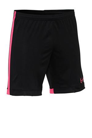 Senior  voetbalshort zwart/roze